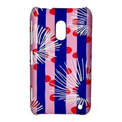 Line Vertical Polka Dots Circle Flower Blue Pink White Nokia Lumia 620 by Mariart