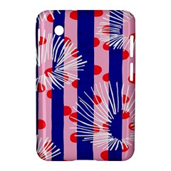 Line Vertical Polka Dots Circle Flower Blue Pink White Samsung Galaxy Tab 2 (7 ) P3100 Hardshell Case  by Mariart