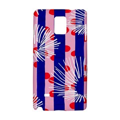 Line Vertical Polka Dots Circle Flower Blue Pink White Samsung Galaxy Note 4 Hardshell Case by Mariart