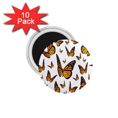 Butterfly Spoonflower 1 75  Magnets (10 Pack)  by Mariart