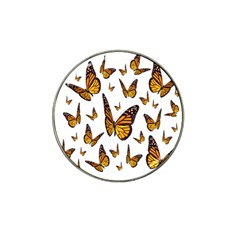 Butterfly Spoonflower Hat Clip Ball Marker (4 Pack) by Mariart