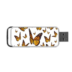 Butterfly Spoonflower Portable Usb Flash (two Sides) by Mariart