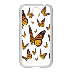 Butterfly Spoonflower Samsung Galaxy S4 I9500/ I9505 Case (white) by Mariart
