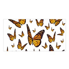 Butterfly Spoonflower Satin Shawl by Mariart