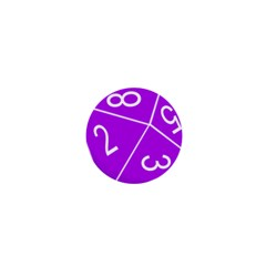 Number Purple 1  Mini Buttons by Mariart