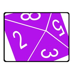 Number Purple Fleece Blanket (small) by Mariart