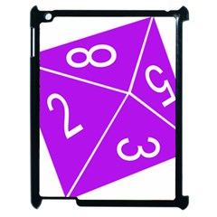 Number Purple Apple Ipad 2 Case (black) by Mariart