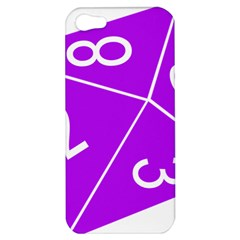 Number Purple Apple Iphone 5 Hardshell Case by Mariart