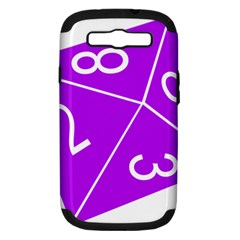Number Purple Samsung Galaxy S Iii Hardshell Case (pc+silicone)