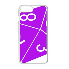 Number Purple Apple Iphone 7 Plus White Seamless Case by Mariart