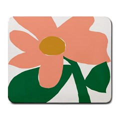 Peach Sunflower Flower Pink Green Large Mousepads by Mariart