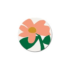Peach Sunflower Flower Pink Green Golf Ball Marker (4 Pack) by Mariart
