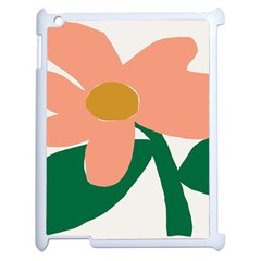 Peach Sunflower Flower Pink Green Apple Ipad 2 Case (white) by Mariart