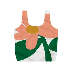 Peach Sunflower Flower Pink Green Full Print Recycle Bags (s)  by Mariart