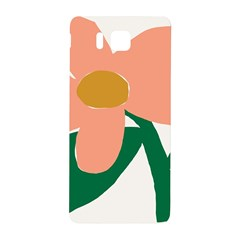 Peach Sunflower Flower Pink Green Samsung Galaxy Alpha Hardshell Back Case by Mariart