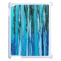 Line Tie Dye Green Kaleidoscope Opaque Color Apple Ipad 2 Case (white) by Mariart