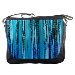 Line Tie Dye Green Kaleidoscope Opaque Color Messenger Bags by Mariart