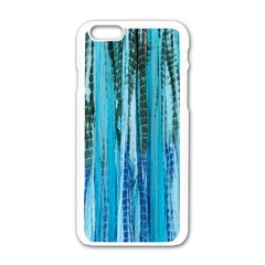 Line Tie Dye Green Kaleidoscope Opaque Color Apple Iphone 6/6s White Enamel Case by Mariart