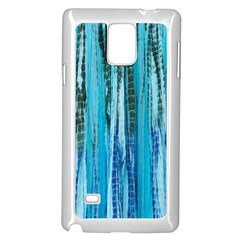 Line Tie Dye Green Kaleidoscope Opaque Color Samsung Galaxy Note 4 Case (white) by Mariart
