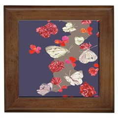 Original Butterfly Carnation Framed Tiles by Mariart