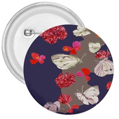 Original Butterfly Carnation 3  Buttons by Mariart