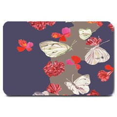 Original Butterfly Carnation Large Doormat  by Mariart