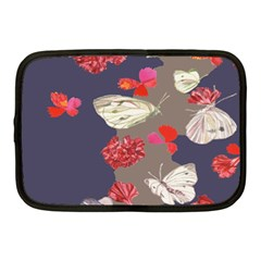 Original Butterfly Carnation Netbook Case (medium)  by Mariart