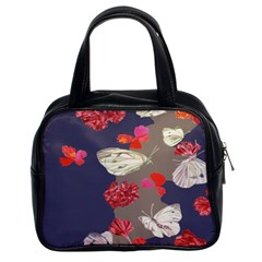 Original Butterfly Carnation Classic Handbags (2 Sides) by Mariart