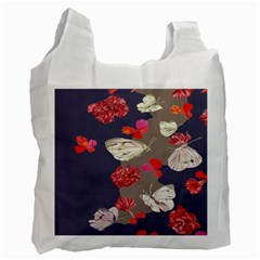 Original Butterfly Carnation Recycle Bag (two Side)  by Mariart