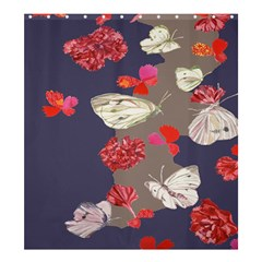 Original Butterfly Carnation Shower Curtain 66  X 72  (large)  by Mariart