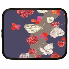 Original Butterfly Carnation Netbook Case (xxl)  by Mariart