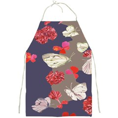 Original Butterfly Carnation Full Print Aprons by Mariart
