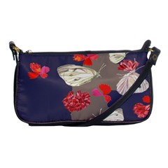 Original Butterfly Carnation Shoulder Clutch Bags by Mariart