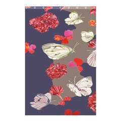 Original Butterfly Carnation Shower Curtain 48  X 72  (small)  by Mariart