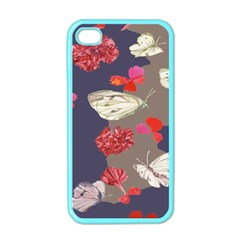 Original Butterfly Carnation Apple Iphone 4 Case (color) by Mariart