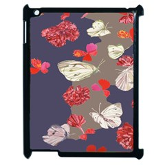 Original Butterfly Carnation Apple Ipad 2 Case (black) by Mariart