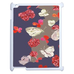 Original Butterfly Carnation Apple Ipad 2 Case (white) by Mariart