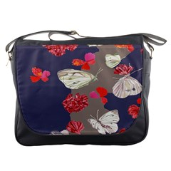 Original Butterfly Carnation Messenger Bags by Mariart