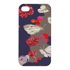 Original Butterfly Carnation Apple Iphone 4/4s Premium Hardshell Case by Mariart