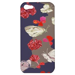 Original Butterfly Carnation Apple Iphone 5 Hardshell Case by Mariart