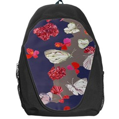 Original Butterfly Carnation Backpack Bag by Mariart