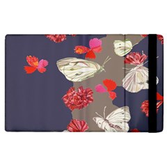 Original Butterfly Carnation Apple Ipad 3/4 Flip Case by Mariart