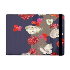 Original Butterfly Carnation Apple Ipad Mini Flip Case by Mariart