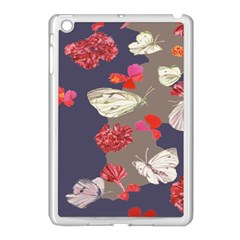 Original Butterfly Carnation Apple Ipad Mini Case (white) by Mariart