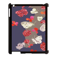 Original Butterfly Carnation Apple Ipad 3/4 Case (black) by Mariart