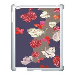 Original Butterfly Carnation Apple Ipad 3/4 Case (white) by Mariart