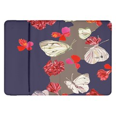 Original Butterfly Carnation Samsung Galaxy Tab 8 9  P7300 Flip Case by Mariart
