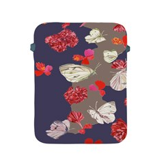 Original Butterfly Carnation Apple Ipad 2/3/4 Protective Soft Cases by Mariart