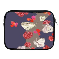 Original Butterfly Carnation Apple Ipad 2/3/4 Zipper Cases by Mariart