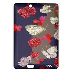 Original Butterfly Carnation Amazon Kindle Fire Hd (2013) Hardshell Case by Mariart